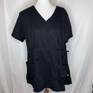Koi Plus Size 2X Black Scrub Top